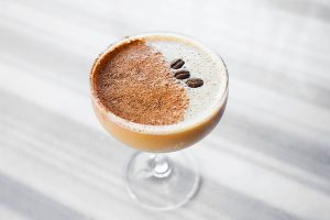 Coffee Date In Peru cocktail at West Hollywood restaurant bar