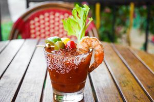 Wicked Bloody Mary brunch cocktails at WeHo Bistro West Hollywood, CA